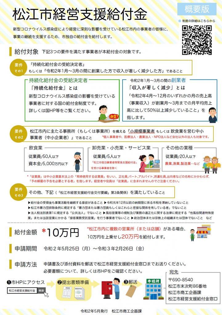 円 10 松江 市 給付 万